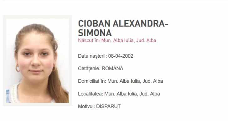 Vești bune! Minora din Alba Iulia care a fost dată dispărută acum două zile a fost găsită
