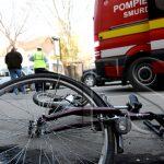 Sebeș - Un biciclist a fost acroșat de un autoturism în apropiere de primăria municipiului