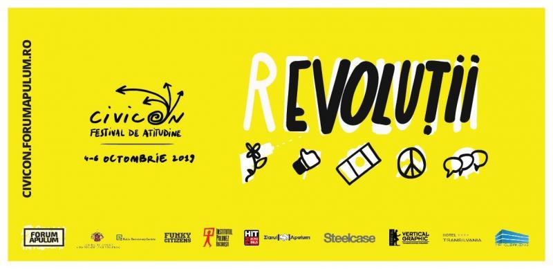 """CivicON: (r)evoluții – ediția a III-a a festivalului de atitudine organizat de Asociația """"Forum Apulum"""" la Alba Iulia"""