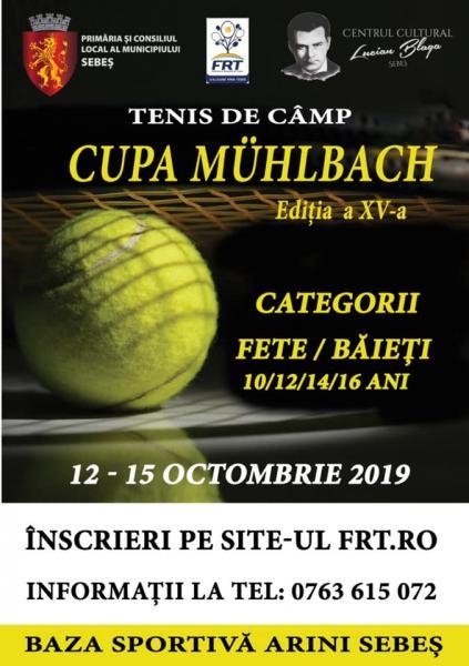 Între 12 și 15 octombrie, în  Parcul Arini din Sebeș are loc ediția a XV-a CUPEI MÜHLBACH LA TENIS DE CÂMP