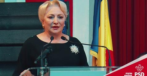 """VIDEO – Viorica Dăncilă: """"Visul meu este ca în această țară să aducem încredere și speranță! """""""