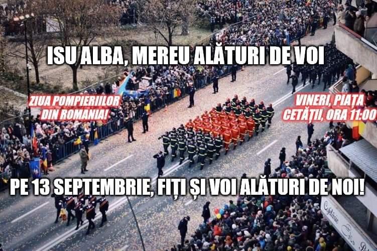Ziua Pompierilor sărbătorită în Piaţa Cetăţii din Alba Iulia