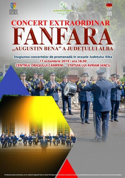 """Fanfara ,,Augustin Bena"""" a Județului Alba concertează la Câmpeni și Abrud"""
