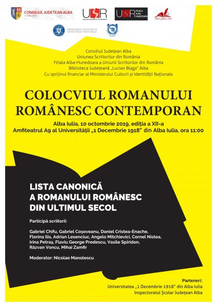 Colocviul Romanului Românesc Contemporan, a XII-a ediție, un eveniment cultural de tradiție, găzduit de Alba Iulia