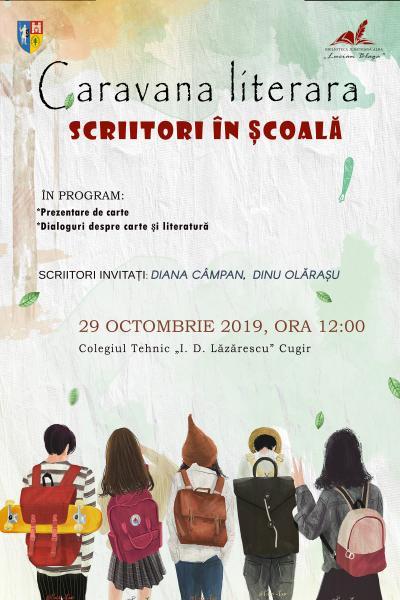 """Caravana literară """"Scriitori în școală"""" poposește în luna octombrie la Cugir"""
