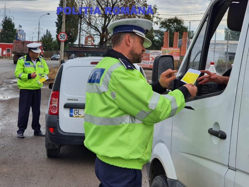 Amenzi de peste 15.000 lei în urma unei acţiuni de prevenire a accidentelor rutiere, pe DN 1, între Aiud și Miraslău