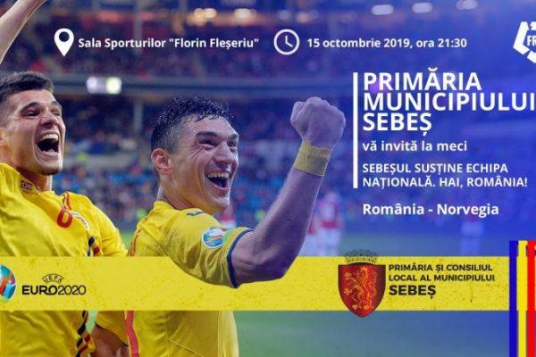 Meciul România - Norvegia, proiectat în sala sporturilor din Sebeș