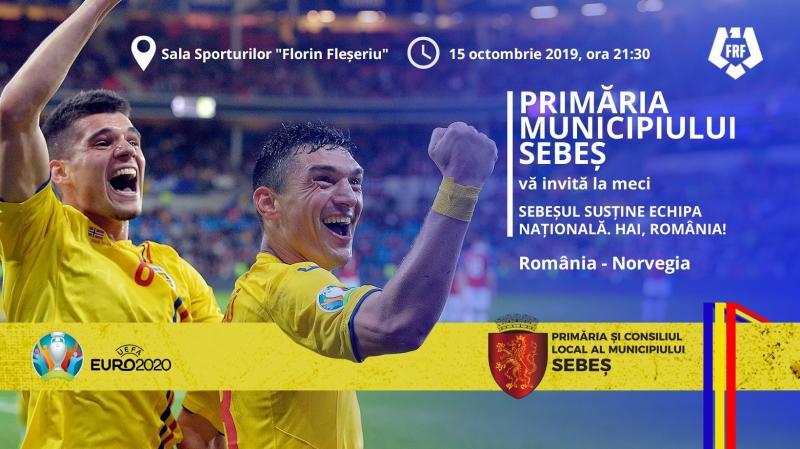Meciul România – Norvegia, proiectat în sala sporturilor din Sebeș