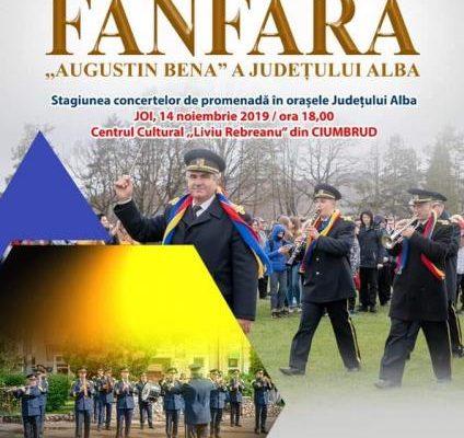 """Stagiunea de concerte a Fanfarei """"Augustin Bena"""" a județului Alba continuă la Ciumbrud"""