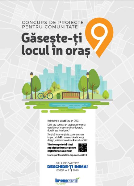 """Fundaţia Kronospan a lansat concursul de proiecte pentru comunitate """"Găsește-ți locul în oraș!"""""""