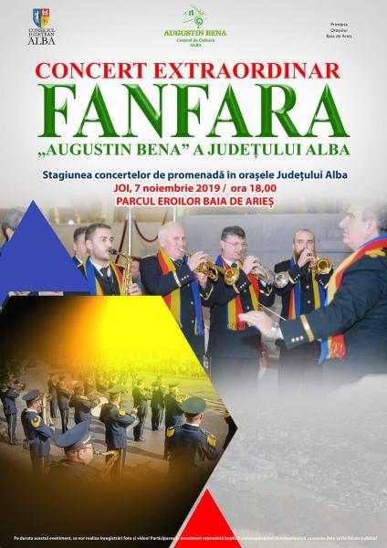 """Fanfara """"Augustin Bena"""" a județului Alba va concerta la Baia de Arieș"""