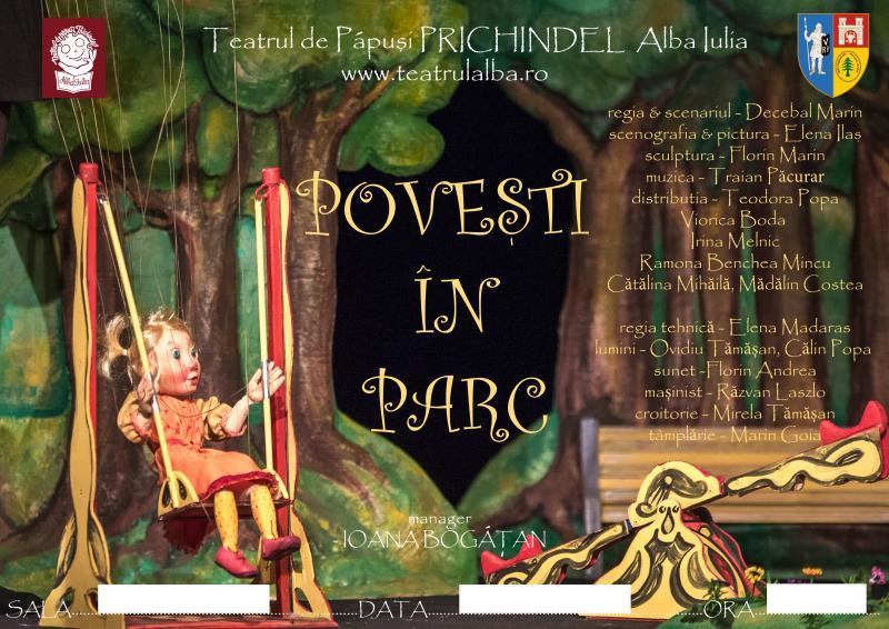 """Teatrul de Păpuși """"Prichindel"""" va prezenta piesa """"Povești în parc"""" la Sibiu și la Pitești"""