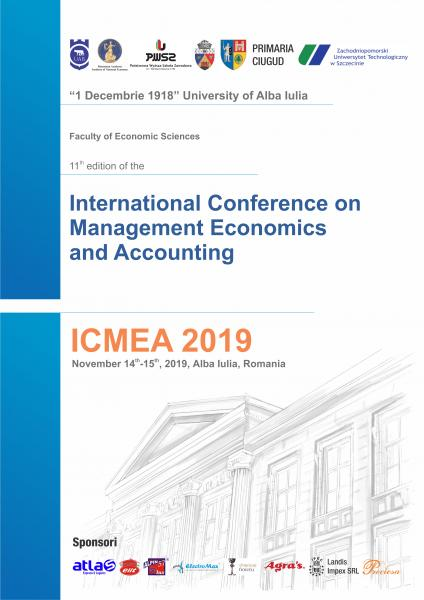 "A XI-a ediţie a International Conference on Management, Economics and Accounting – ICMEA 2019, găzduită de  Universitatea  ""1 Decembrie 1918"" din Alba Iulia"
