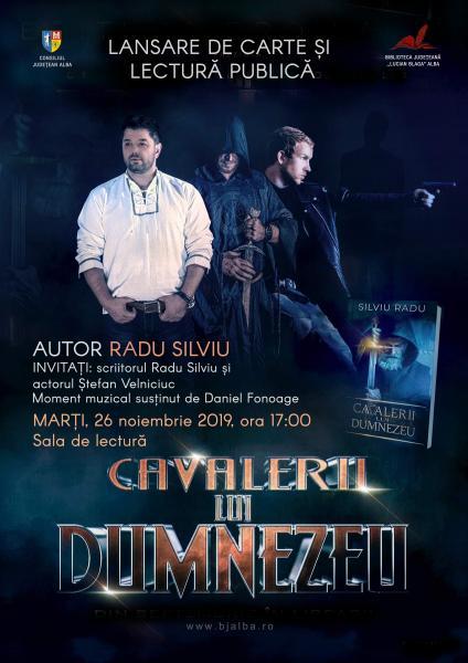 """Cea mai recentă carte a scriitorului şi regizorului Radu Silviu, lansată în cadrul Zilelor Bibliotecii Judeţene """"Lucian Blaga"""" Alba"""