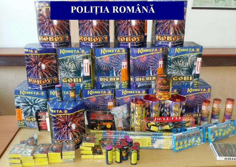 """Primele confiscări de obiecte pirotehnice în județul Alba, din cadrul Planului de acțiune """"Foc de artificii 2019"""""""