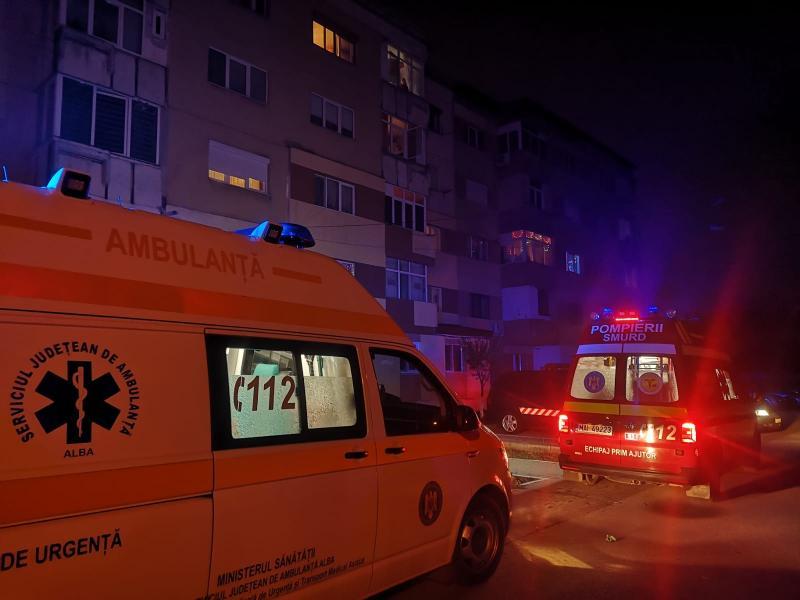 Alba Iulia – Trei persoane au ajuns la spital după ce s-au intoxicat cu monoxid de carbon (foto)