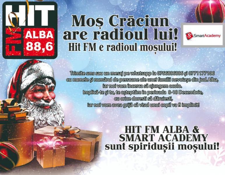 Moș Crăciun are radioul lui! HIT FM e radioul Moșului!