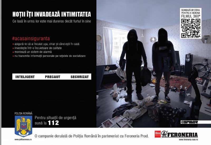 """Poliția Română a lansat campania națională """"Hoții îți invadează intimitatea"""""""