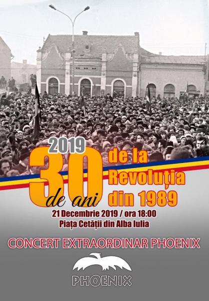Sâmbătă, 21 decembrie, concert extraordinar PHOENIX în Piața Cetății din Alba Iulia