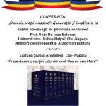 23 IANUARIE 2020: ACADEMICIANUL IOAN BOLOVAN VA CONFERENȚIA LA SEBEȘ DESPRE IMPLICAREA ELITELOR ÎN CREAREA STATULUI ROMÂN MODERN