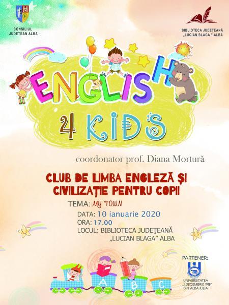 """Proiectul """"English 4 Kids"""" continuă la Biblioteca Județeană """"Lucian Blaga"""" Alba și în 2020"""