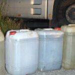 Bărbat din Sebeș, reținut de polițiști după ce a furat 100 de litri de benzină