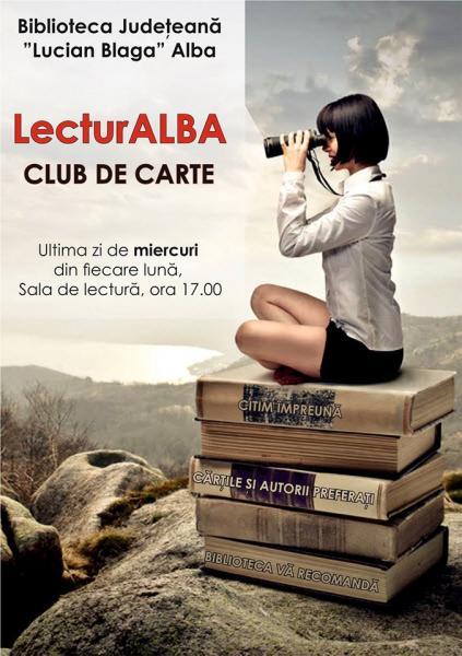 """Întâlnirile culturale """"LecturAlba"""" și """"Verbum"""" revin la Biblioteca Județeană """"Lucian Blaga"""" Alba"""