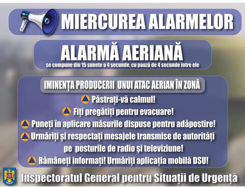 Și în 2020, ISU Alba desfășoară lunar exerciții de alarmare a populației