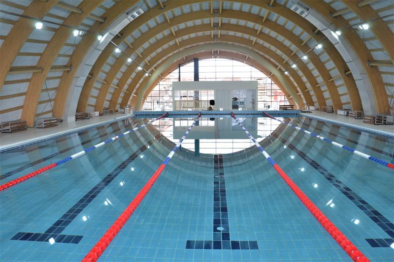 Noul bazin acoperit de înot din Blaj va fi deschis oficial vineri, 14 februarie