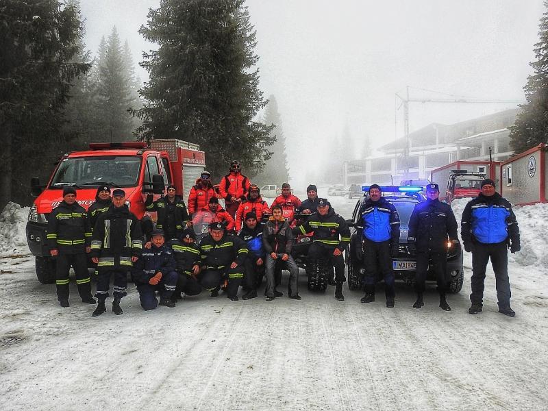 Exercițiu al pompierilor militari din cadrul ISU Alba, IJJ Alba, Serviciul Public Județean Salvamont Salvaspeo Alba, SVSU Sugag