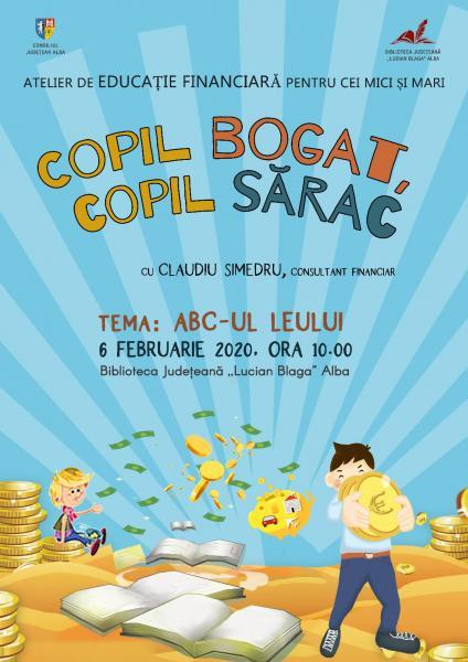 """Biblioteca Județeană """"Lucian Blaga"""" Alba anunță lansarea proiectului """"Copil bogat, copil sărac"""""""