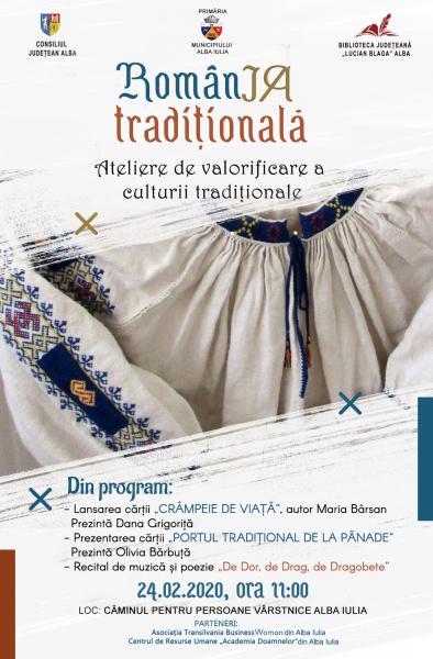 """Lansări de carte și artă tradițională, în cadrul proiectului """"RomânIA tradițională"""""""