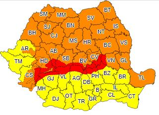 Urgie – Avertizări Cod Portocaliu și Cod Roșu de vânt pentru județul Alba