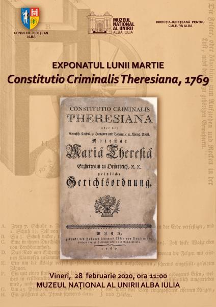 Exponatul lunii martie la Muzeul Național al Unirii din Alba Iulia