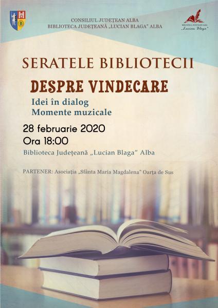 """Biblioteca Județeană ,,Lucian Blaga"""" Alba, spațiu al ideilor și dialogului pe temă dată"""