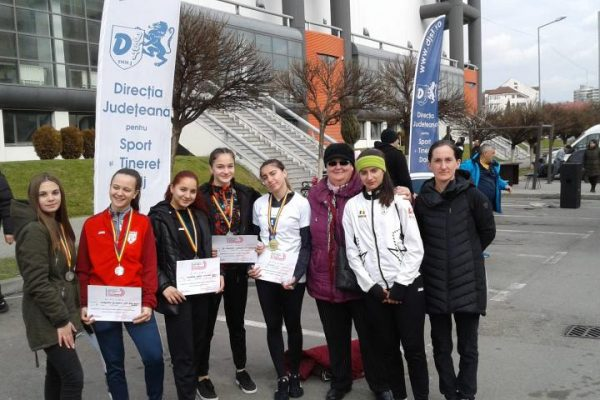 CS Unirea Alba Iulia – Noi recorduri și patru medalii, de aur și argint, la Campionatul Național de Marș – Iarna