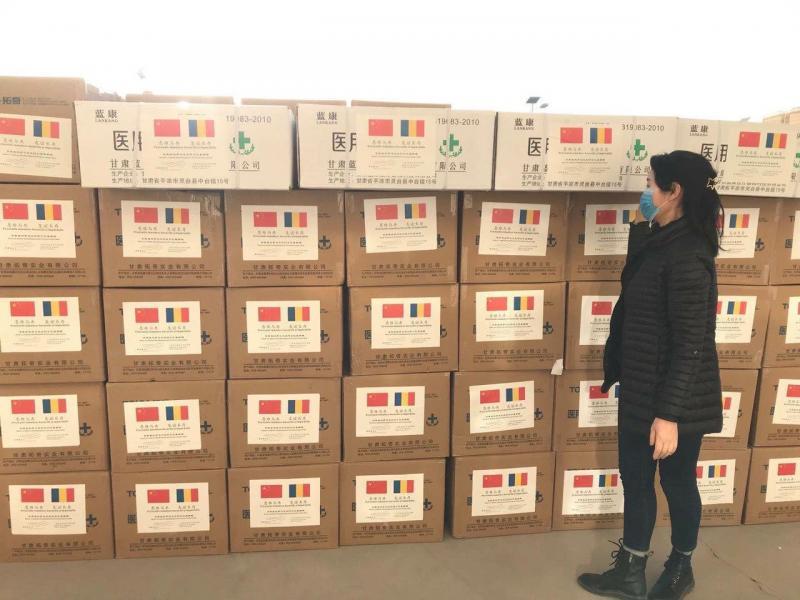 Provincia Gansu (China) trimite în județul Alba materiale de protecție împotriva Coronavirus