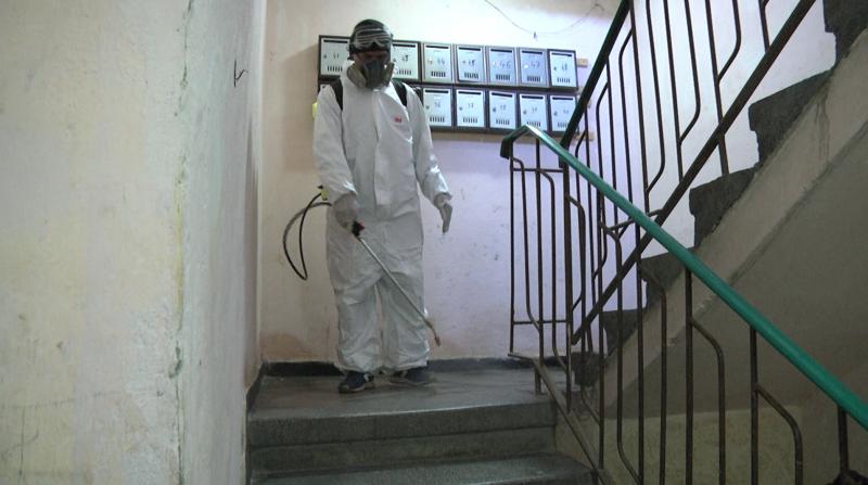 Dozatoare de dezinfectat și operațiuni de dezinfectare a scărilor de bloc din Sebeș