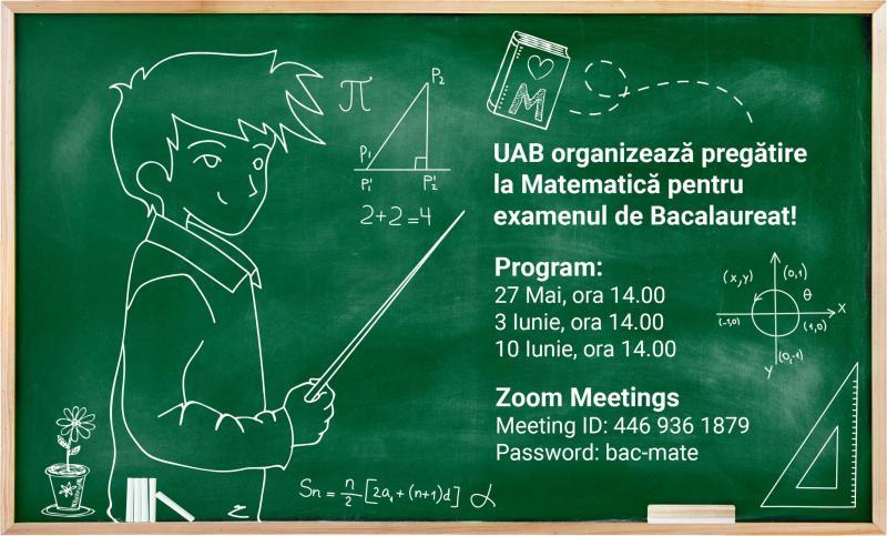 UAB organizează pregătire la Matematică pentru  absolvenții de liceu care vor susține examenul de Bacalaureat