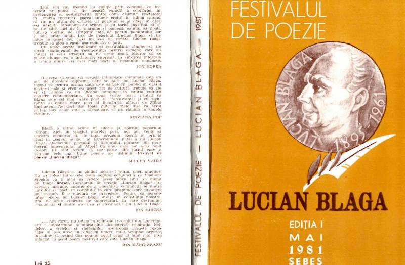 """Publicațiile festivalului """"LUCIAN BLAGA"""" Sebeș, accesibile în format digitalizat"""