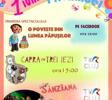 Spectacol on-line organizat de teatrul de păpuși ''Prichindel'' de 1 iunie