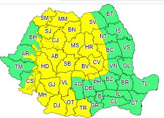 Avertizare COD GALBEN de vânt puternic emisă de ANM pentru județul Alba!