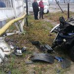 Aiudul de Sus - Un șofer beat a intrat cu mașina într-un gard și o țeavă de gaz
