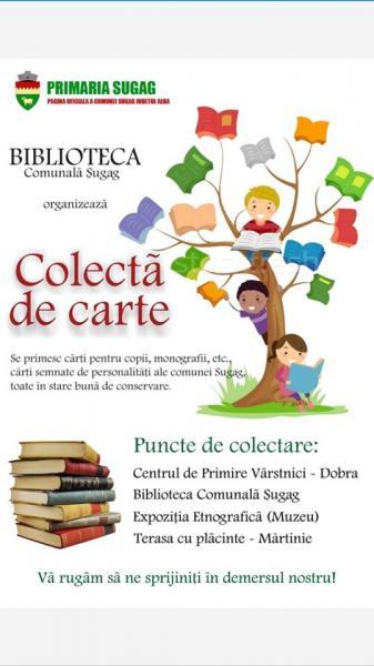 Colectă de carte în comuna Șugag