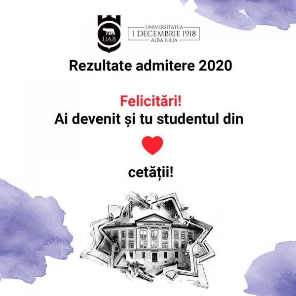 """La Universitatea """"1 Decembrie 1918"""" din Alba Iulia s-au afișat rezultatele admiterii 2020, sesiunea de vară!"""