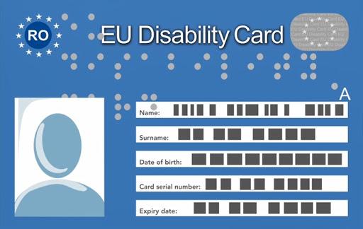 Persoanele cu handicap vor beneficia în continuare de cardul european pentru dizabilitate