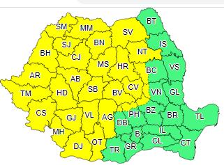 ANM avertizează că ploile abundente vor continua și în următoarele două zile în județul Alba!