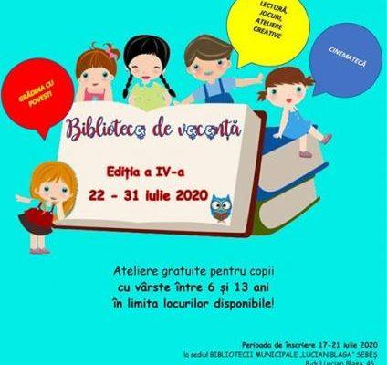 Sebeș - Între 22 și 31 iunie este organizată o nouă ediție a evenimentului ''Biblioteca de vacanță''