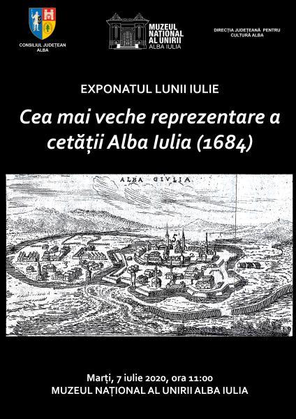 Exponatul lunii iulie la Muzeul Unirii – Cea mai veche reprezentare a cetății Alba Iulia (1684)