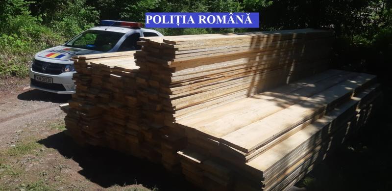 Scărișoara – Peste 8 mc de cherestea fără documente au fost confiscați